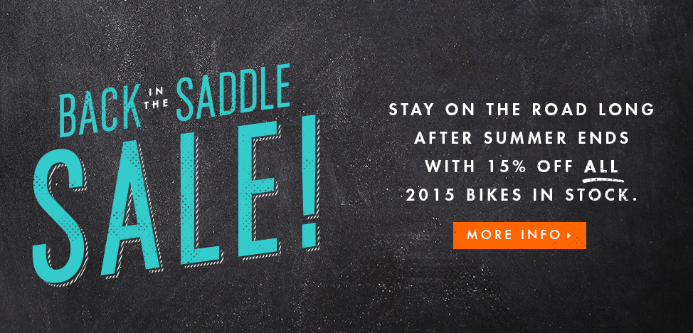 Back in the Saddle Sale at The Bicycle Stand!