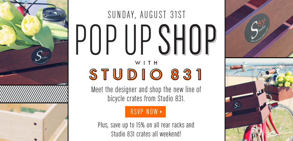 The Bicycle Stand Pop-Up Shop w/ Studio 831!